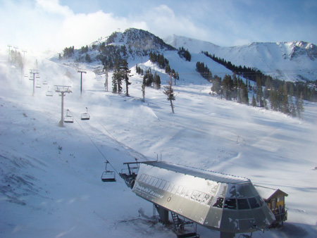 Snowmaking at Mammoth Mountain