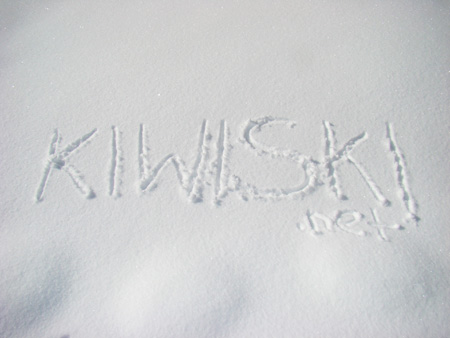 Kiwiski in the fresh pow!