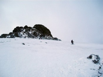 Skiing on ice